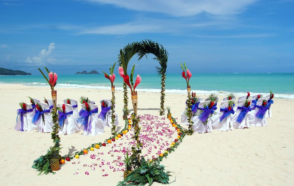 hawaii beach wedding arch