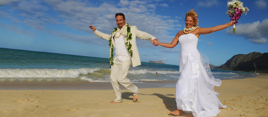 Sweetheart Oahu and Kauai Beach Wedding Package