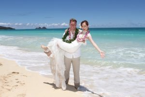 international korea america hawaii beach wedding