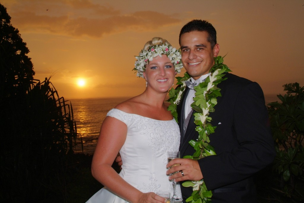 Sunset Hawaiian Wedding