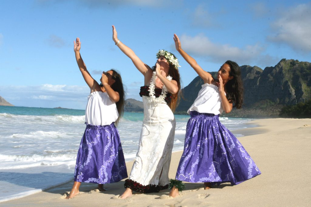Hawaiian Wedding Hula Dancers
