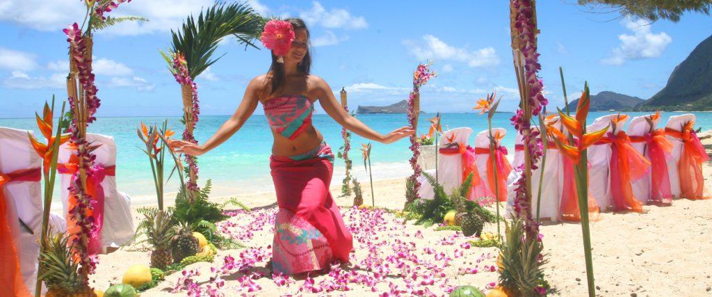 hawaii wedding palm arch package