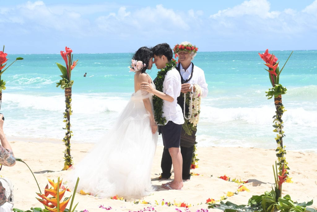 Simply Sacred Hawaiian Beach Wedding Ceremony