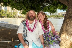 sweet hawaii wedding