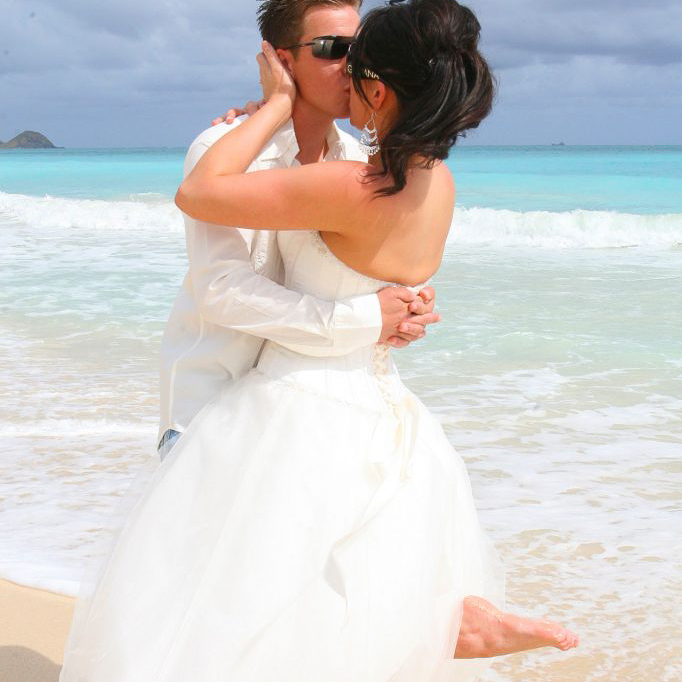Lanikai beach wedding Oahu hawaii