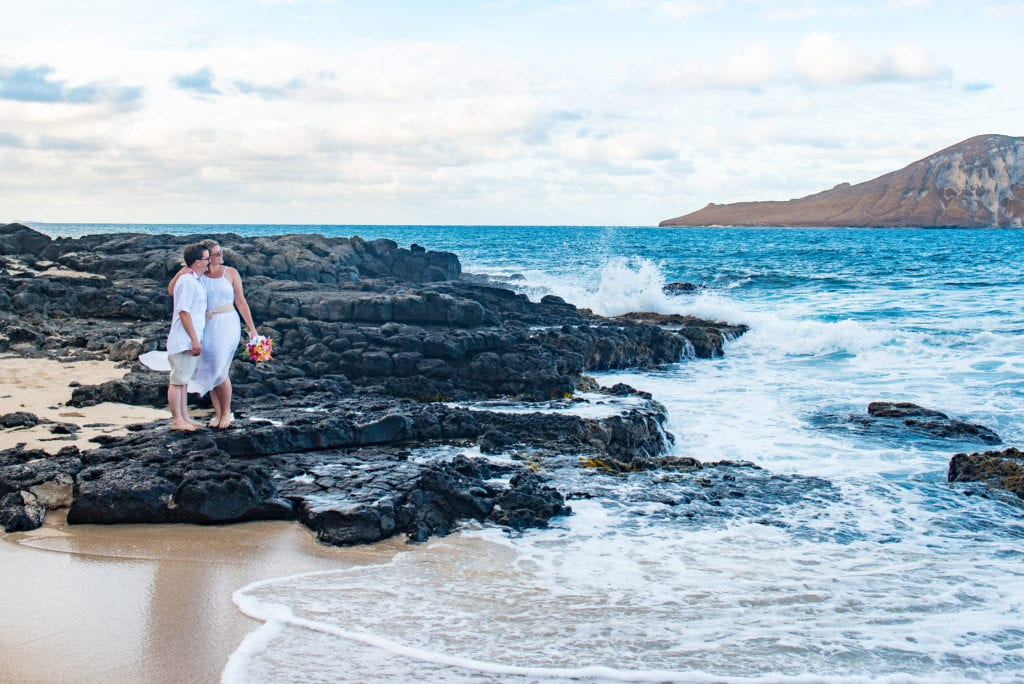 oahu makapuu beach elopement hawaii