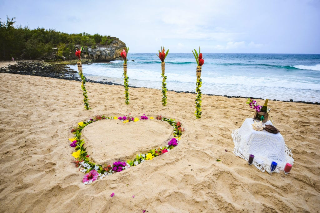 sacred hawaii wedding shipwreck beach kauai