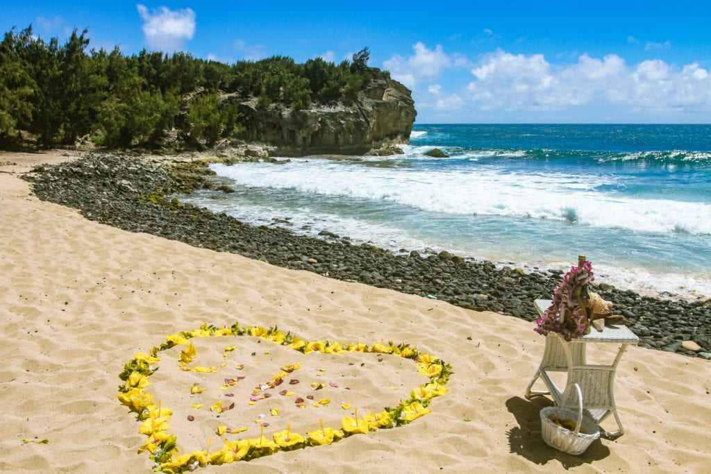 sweet-hawaii-Shipwreck-beach-kauai-wedding-2