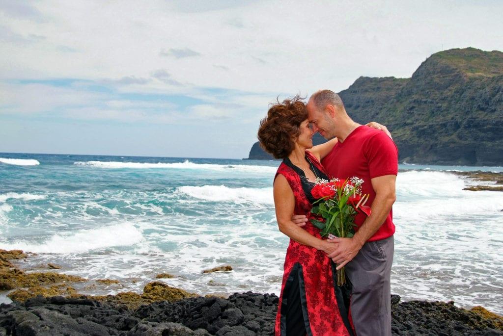 Makapuu hawaiian beach wedding