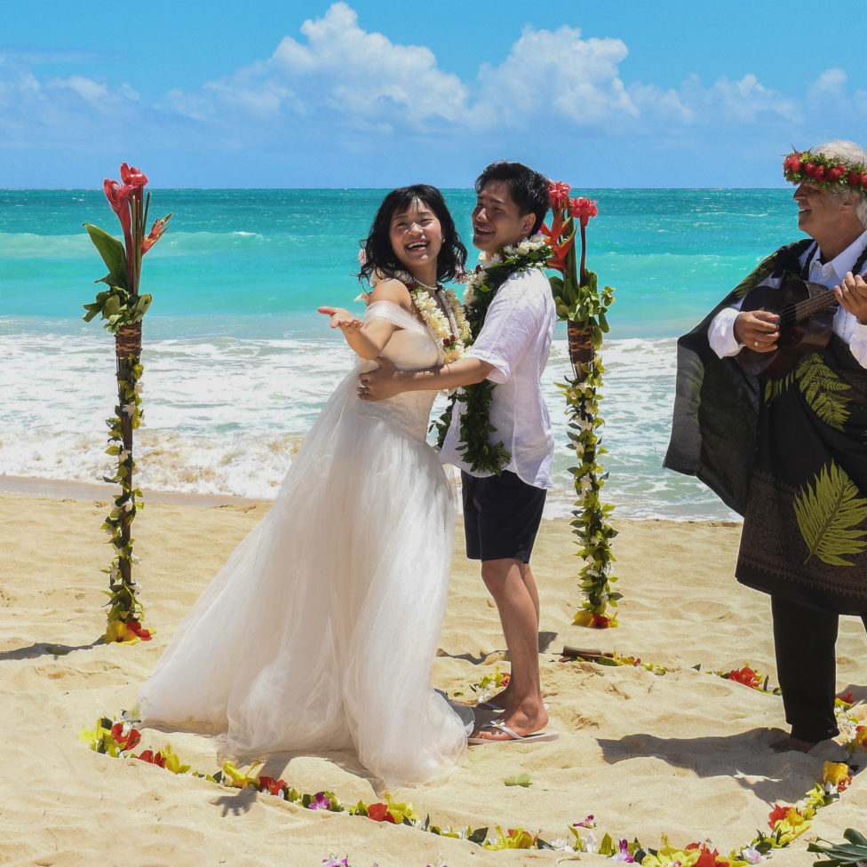 sacred hawaiian wedding ceremony blue ocean