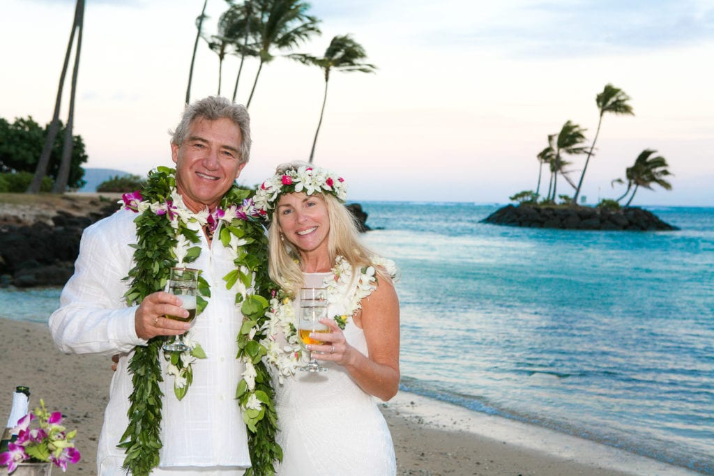 Hawaii Vow Renewal on Waialae beach