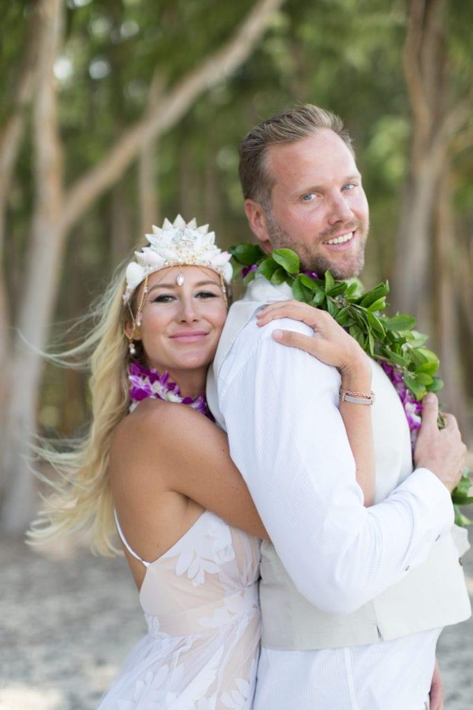 kauai wedding couple