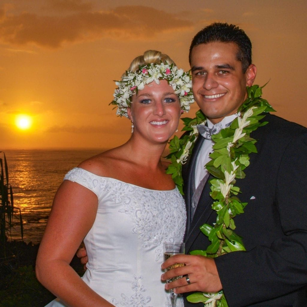 oahu waikiki beach wedding sunset hawaii