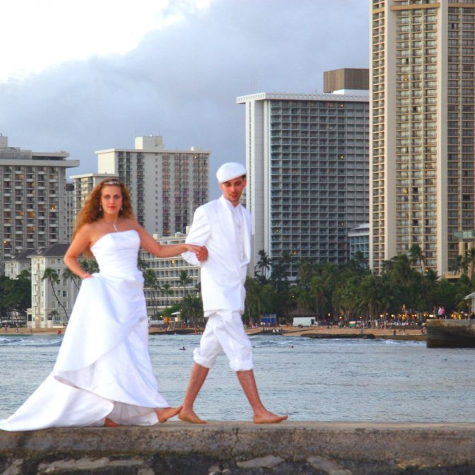 waikiki beach wedding location